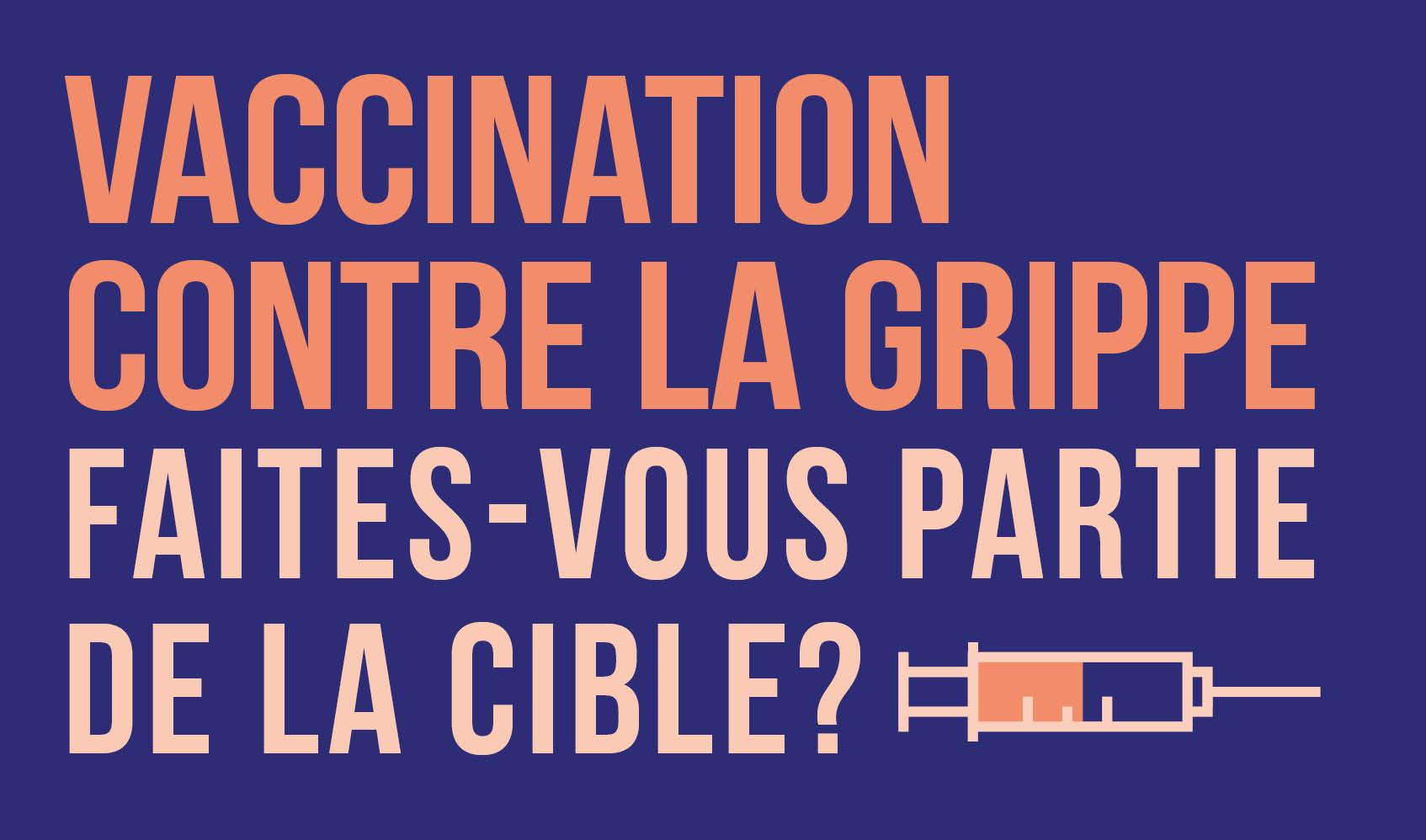 Vaccination contre la grippe, faites-vous partie de la cible?