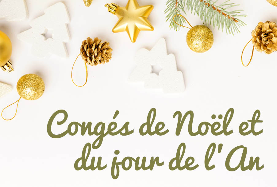 Congés de Noël et du jour de l'An