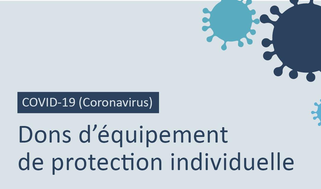 Dons d'équipement de protection individuelle