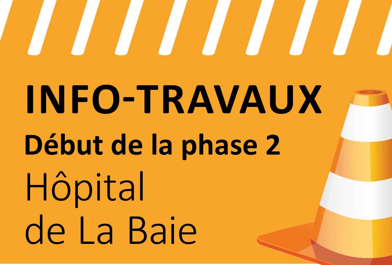 Reprise des travaux de l'Hôpital de La Baie