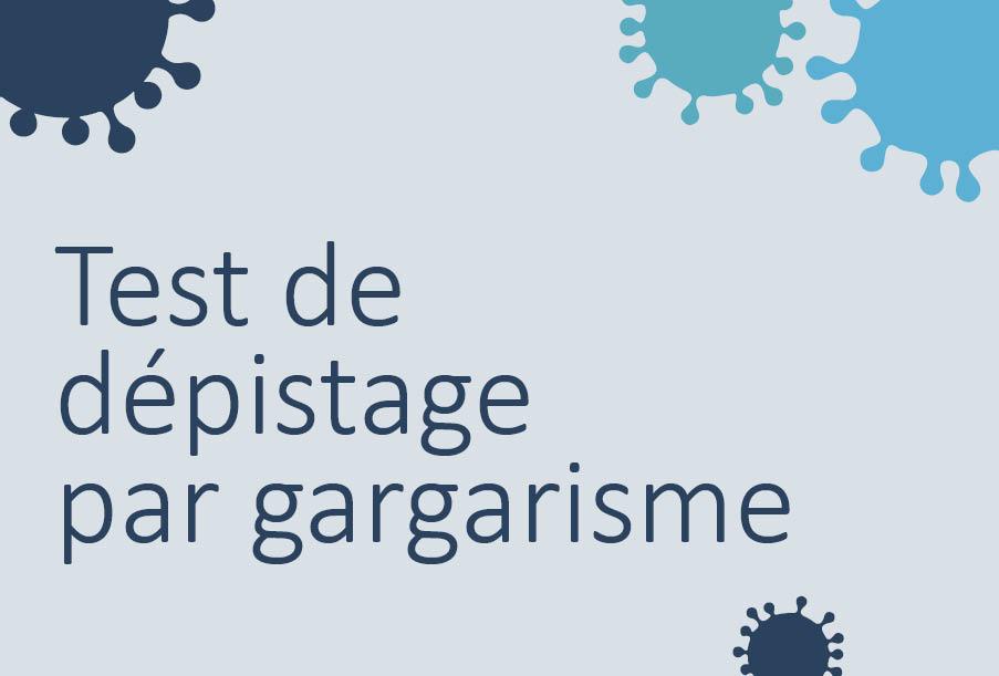 Test de dépistage par gargarisme offert dans la région