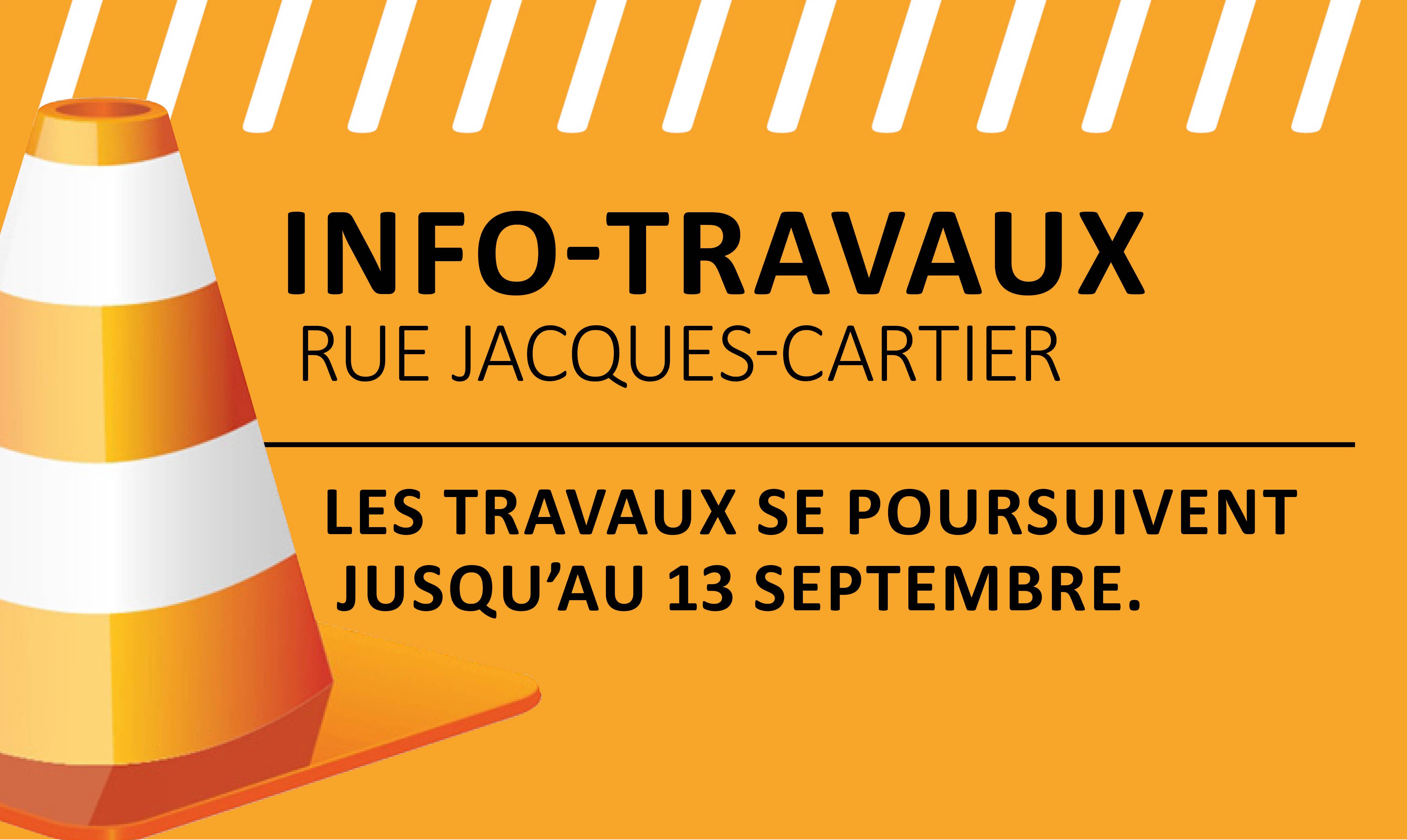 Info-travaux secteur de l'Hôpital de Chicoutimi